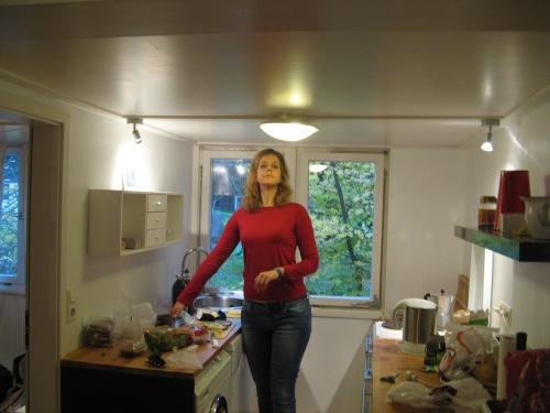 בדירת נופש עם תקרה נמוכה